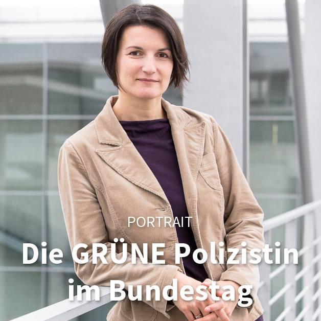 Die Grüne Polizistin im Bundestag