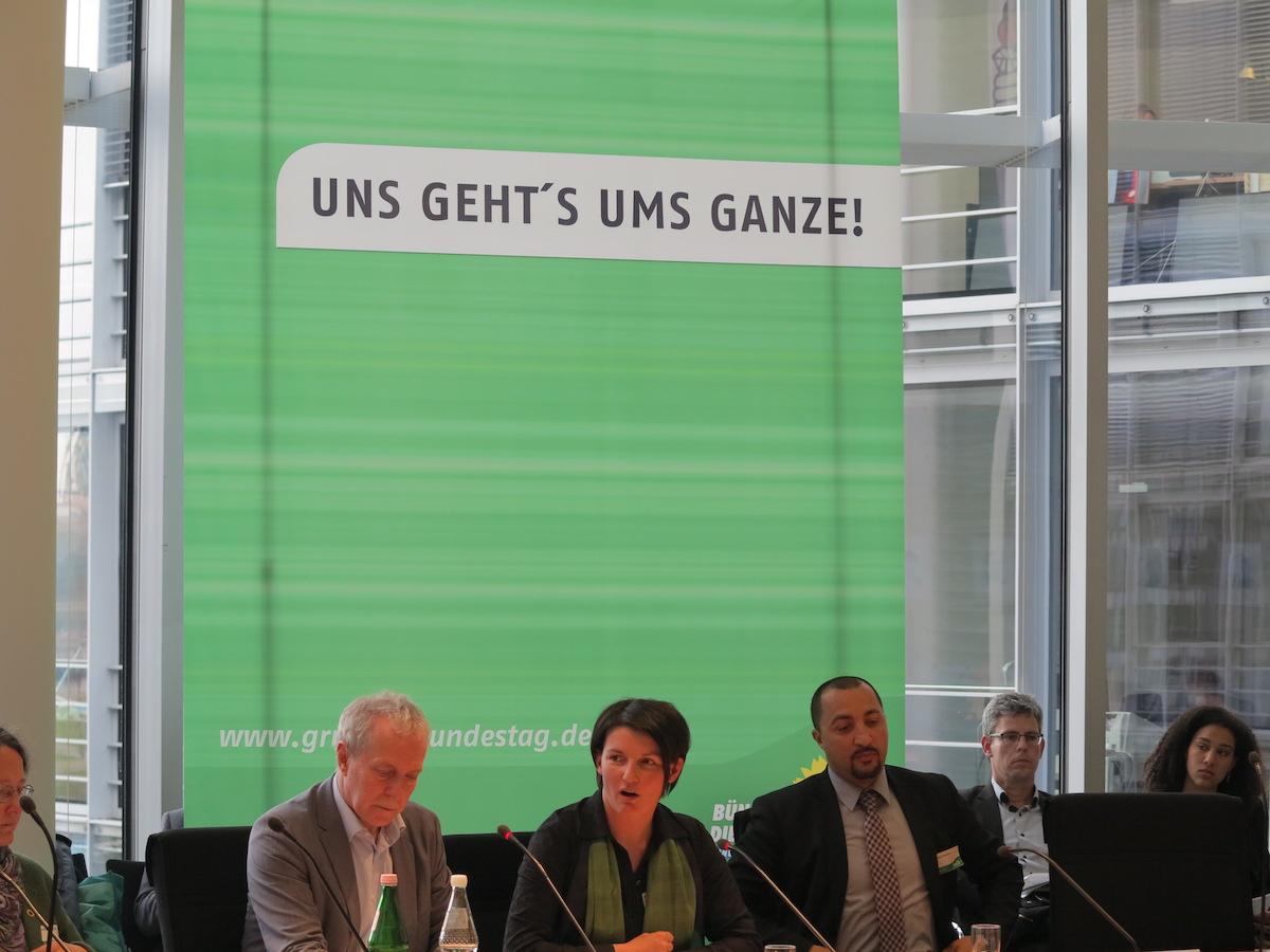 Irene Mihalic bei der Vorstellung des grünen Konzeptes zur Terrorprävention